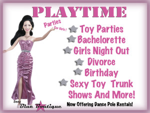 Tracey play time party header page