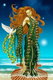 The Greek Goddess of love and fertility, Aphrodite.